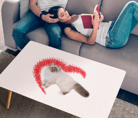Birman Cat Print Rectangular Coffee Table