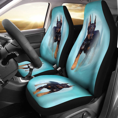 Doberman Pinscher Dog Print Car Seat Covers-Free Shipping