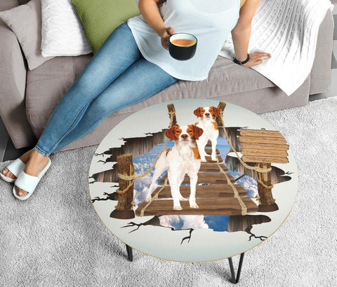 Brittany Dog 3D Print Circular Coffee Table