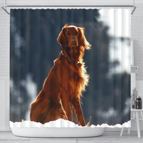 Irish Setter Dog Print Shower Curtains-Free Shipping