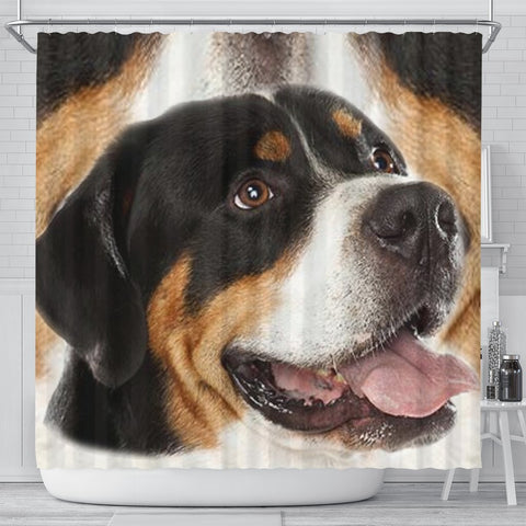 Greater Swiss Mountain Dog Print Shower Curtain-Free Shipping