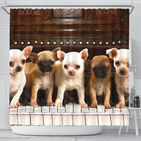 Chihuahua Print Shower Curtain-Free Shipping
