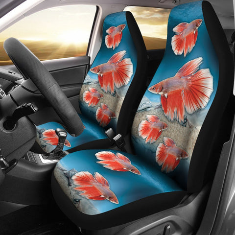 Siamese Fighting Fish Print Car Seat Covers- Free Shipping