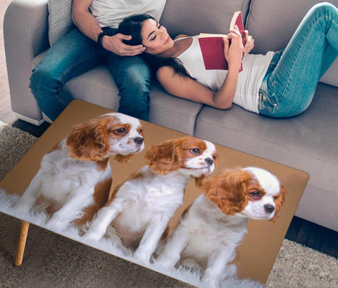 Cavalier King Charles Spaniel Print Rectangular Coffee Table
