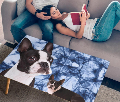 Boston Terrier Print Rectangular Coffee Table