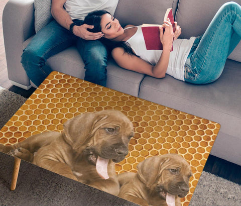 Bloodhound Print Rectangular Coffee Table