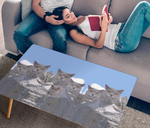 British Shorthair Cat Print Rectangular Coffee Table