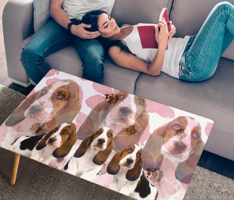 Basset Hound Print Rectangular Coffee Table