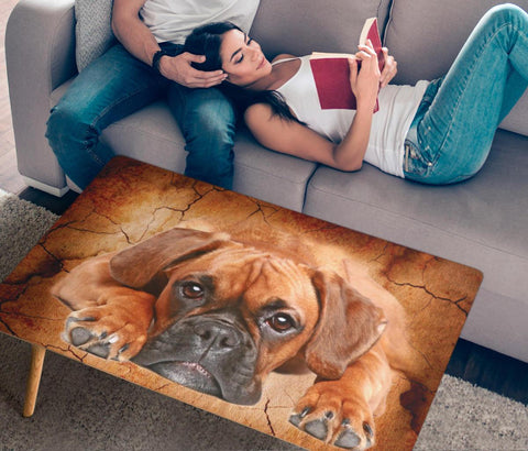 Boxer Dog Print Rectangular Coffee Table