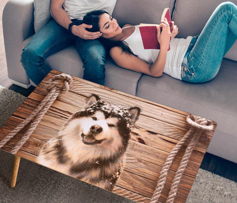 Alaskan Malamute Print Rectangular Coffee Table