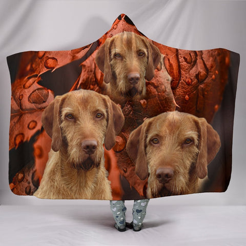 Wirehaired Vizsla Print Hooded Blanket