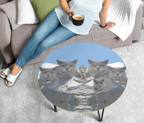 British Shorthair Cat Print Circular Coffee Table