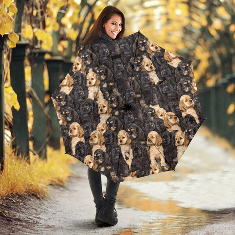 Cocker Spaniel Dog Print Umbrellas