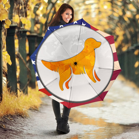Amazing Golden Retriever Art Print Umbrellas