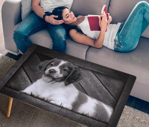 Brittany Dog Print Rectangular Coffee Table