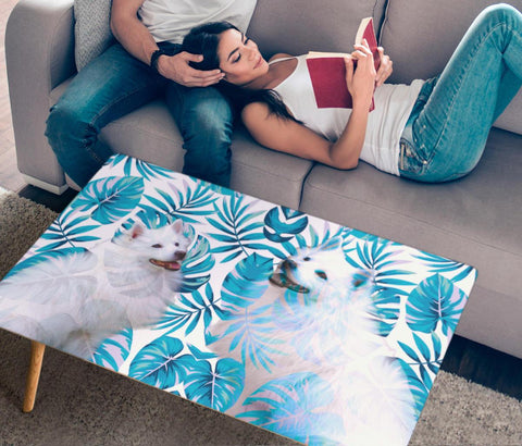American Eskimo Print Rectangular Coffee Table