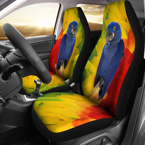 Hyacinth Macaw Print Car Seat Covers-Free Shipping