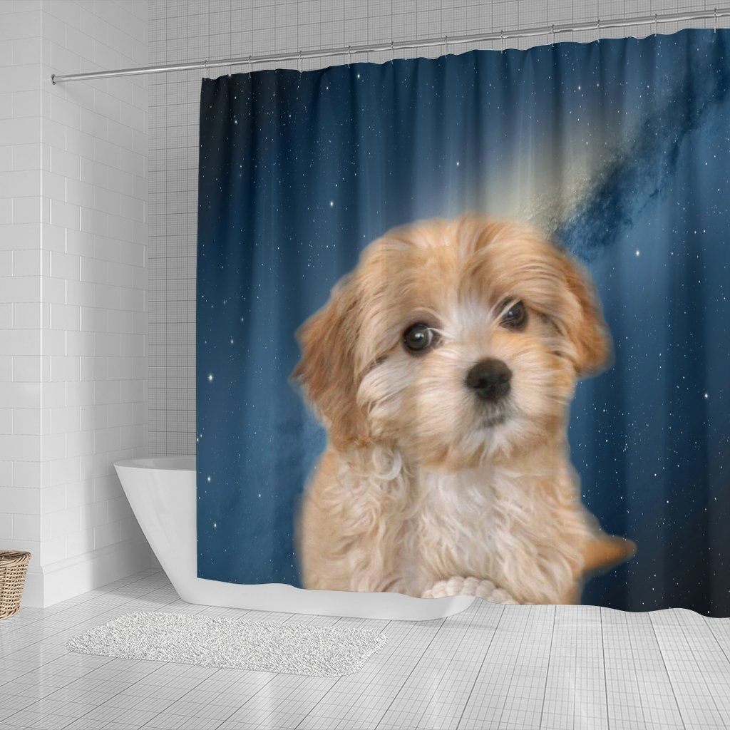 Cavapoo Puppy Print Shower Curtains-Free Shipping