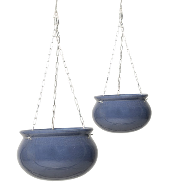 Glazed Hanging Pot Ant. Grey S2 D21/27H12/16