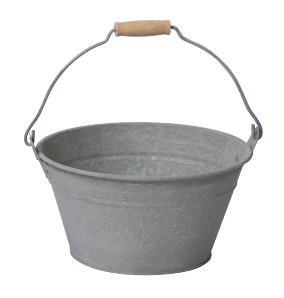 Zinc Old Look Low Bucket D23H12