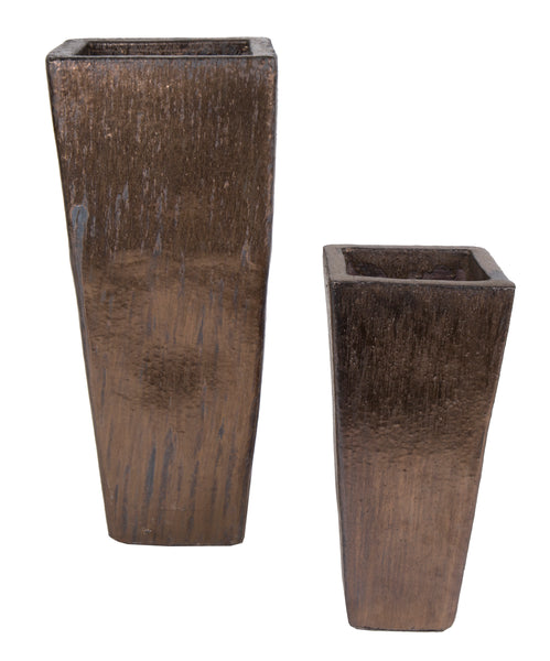 Glazed Conical Square High Bronze S2 W27/40H60/90