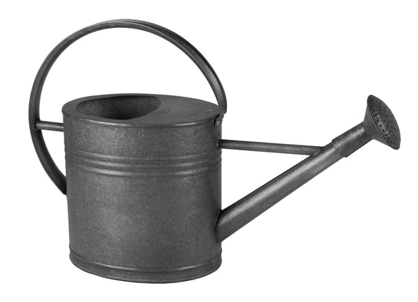 Zinc Vintage Black Watering Can Oval 7L