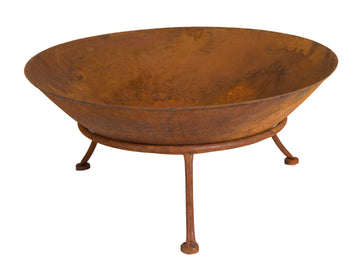 Cozy Iron Fire Bowl Rust D60H28