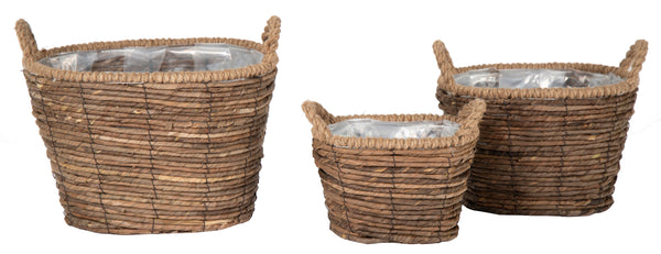 Costa Oval Basket Natural S3 L25/38W17/30H17/26