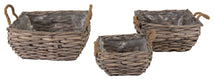 Bobs Bush Basket Square Grey S3 W20/30H11/14