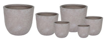 Utah Egg Pot Taupe Wash S6 D25/62H25/62