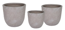 Utah Egg Pot Taupe Wash S3 D25/39H25/38