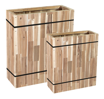 Acacia Barrel FSC 100. Partition S2 L61/81W23/31H