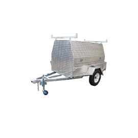 Trailer Alloy- (WT-1) 2 Door Fully Enclosed - CBC Alloy Boxes & Canopies