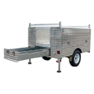 Trailer Alloy- (WT-UTE-D) Tool Box Sections and drawer - CBC Alloy Boxes & Canopies