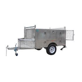 Trailer Alloy- (WT-UTE) Without drawer and brakes - CBC Alloy Boxes & Canopies