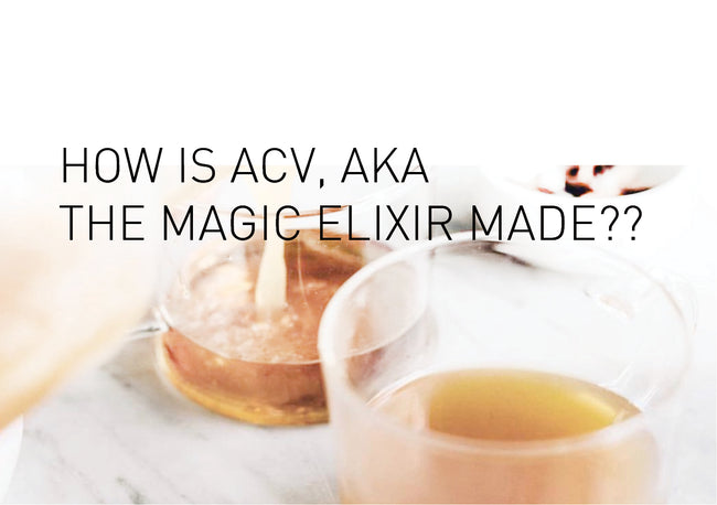 How is ACV, aka the magic elixir made?