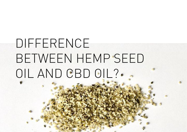 What is the difference between Hemp Seed Oil and CBD Oil?