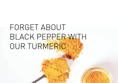 Black Pepper is NOT needed if you take Tonik No. 3 Turmeric aka. Curcumin