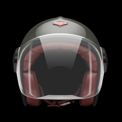 Ruby Motorcycle Helmet Belvedere Ecole Militaire Size M