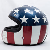 Ruby Motorcycle Helmet Castel Costume USA Flag Size L