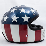 Ruby Motorcycle Helmet Castel Costume USA Flag Size XL