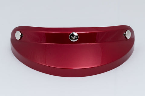 Ruby Visor Carbon Fiber Peak Shibuya Red Chrome