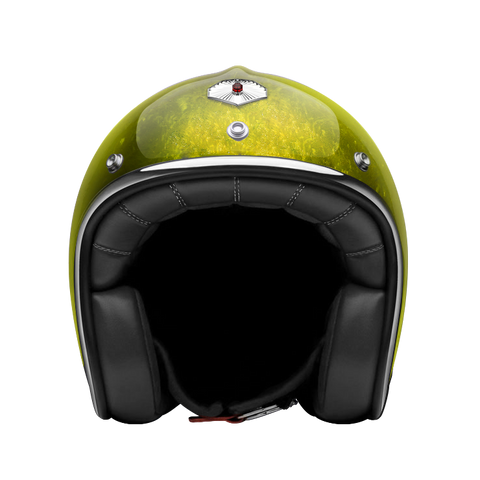 Ruby Motorcycle Helmet Pavillon Pacifique Yellow Size S