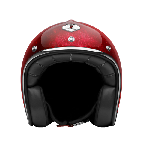 Ruby Motorcycle Helmet Pavillon Pacifique Red Size L