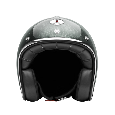 Ruby Motorcycle Helmet Pavillon Pacifique Silver Size L