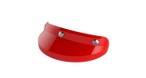 Ruby Visor Carbon Fiber Peak Gloss Red Chrome
