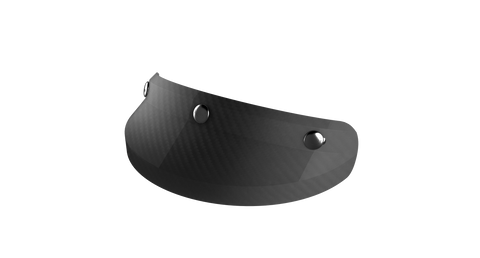 Ruby Visor Carbon Fiber Peak Flat Carbon Chrome