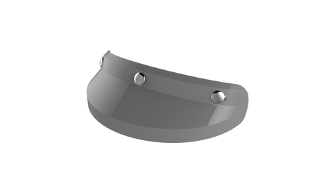 Ruby Visor Carbon Fiber Peak Foch Grey Chrome