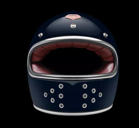 Ruby Motorcycle Helmet Castel Francs Bourgeois Size L