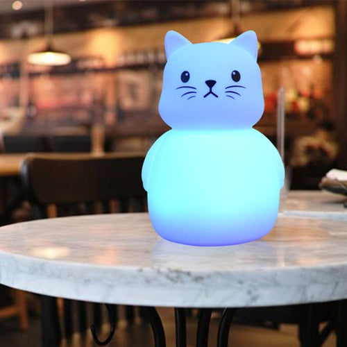 Kitty Large Color-Changing Night Light